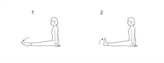すねの前側(前脛骨筋)とふくらはぎ(腓腹筋)のストレッチ